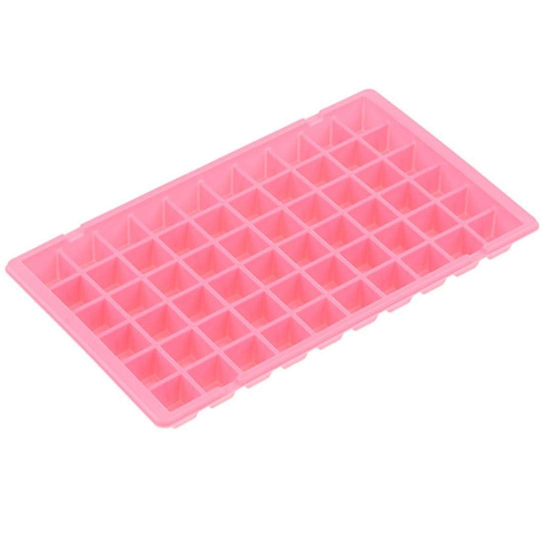 ice molds for whiskey-Vibola Silicone Ice Tray 60 Cubes Kitchen Bar Tools Appliances Jelly Cube Mold Tray (Pink)