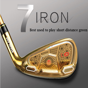 Original golf clubs Kaidia high quality golden golf clubs iron 7 graphite shaft R-flex