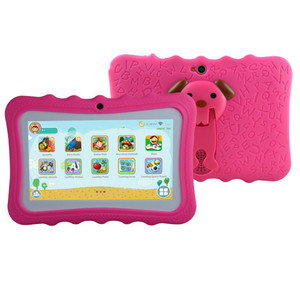 manufacturer OEM logo cheap 7 inch Quad Core Kids Rugged Tablet PC with  silicon case stand