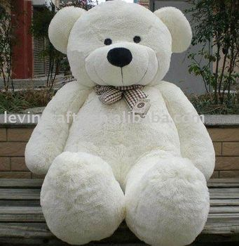 giant white teddy bear plush 120cm pretty big bear for sale buy giant teddy bear plush cuddly. Black Bedroom Furniture Sets. Home Design Ideas