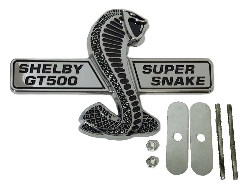 Cheap Super Snake Emblem Find Deals On Line At Shelby Fuse Box Cover Get Quotations Chrome Ford Mustang Gt500 Wing Grille Direct Oem Replacement