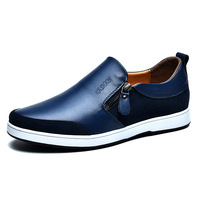 Italian Flat Genuine Leather Male Loafers Shoes Men's Casual Shoes