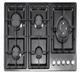 5 gas burner black stainless steel panel with deep panel design auto ignition gas stove