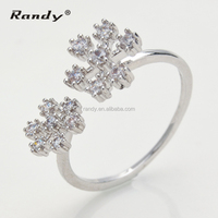 Unique 925 Sterling Silver CZ Stone Customized Wedding Band Ring
