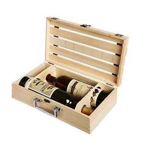 Natural Wood Color Empty Wine Display Crate for Sale