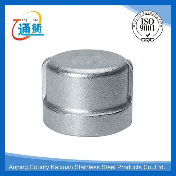Casting female threaded stainless steel inch pipe cap