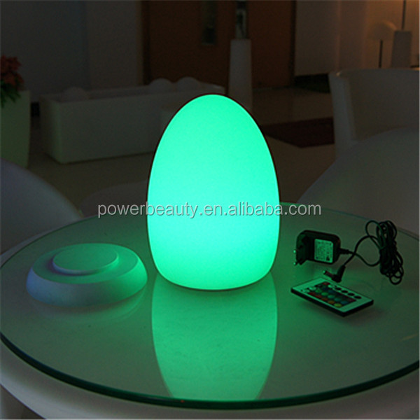 Hot led lighting up Hotel table lamp with rgb color changing and rechargeable battery