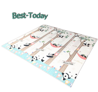 high density anti-scrap shock absorbing XPE foam baby play mat with customized package
