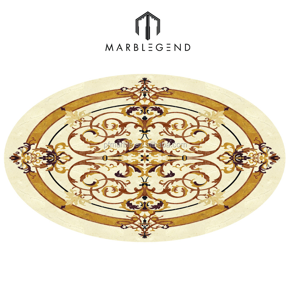 Marble Oval Water Jet Medallion, Marble Oval Water Jet Medallion ...