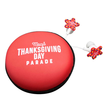 Thanksgiving gifts cartoon earphones with OEM boxes for promotional