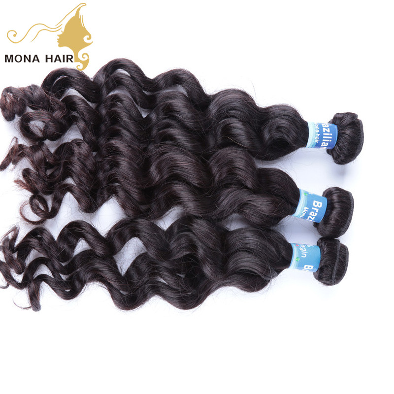 100% human hair products dye-able and bleach-able 10 to 40 inch loose wave brazilian hair