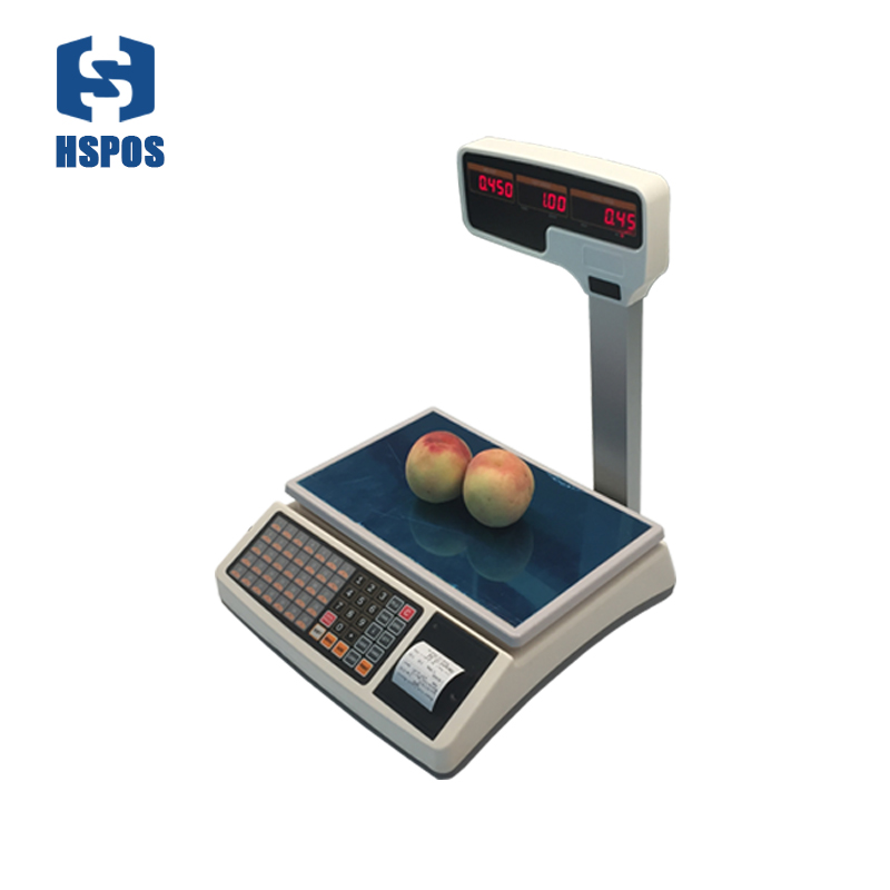 저렴한 Pos 디지털 가격 전자 저울 영수증 프린터 상업용 고기
