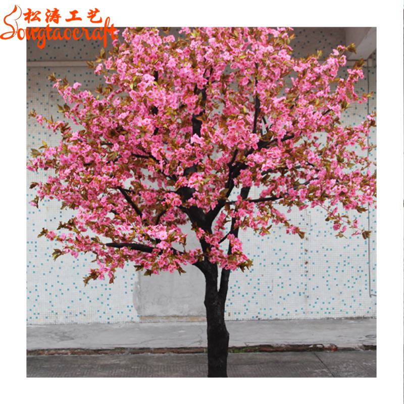 St Cr25 Different Type Artificial Cherry Blossom Tree Pink Orange Silk Flowers Trees Peach Blossom 9ft Buy Different Type Blossom Tree Cherry
