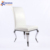 wedding ceremony use pure white pu leather chair for hotel