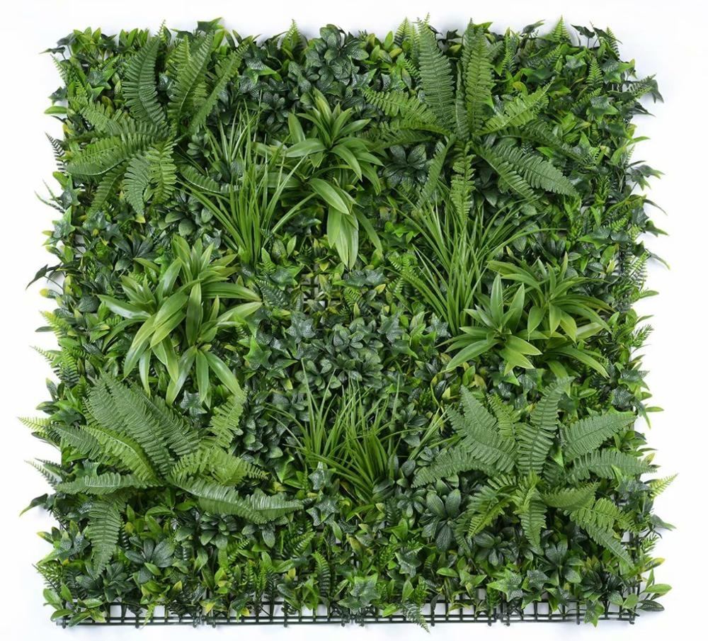 100*100cm ultraviolet-proof outdoor <strong>green</strong> wall <strong>artificial</strong> module, <strong>artificial</strong> <strong>leaves</strong> vertical garden plant <strong>green</strong> wall panels