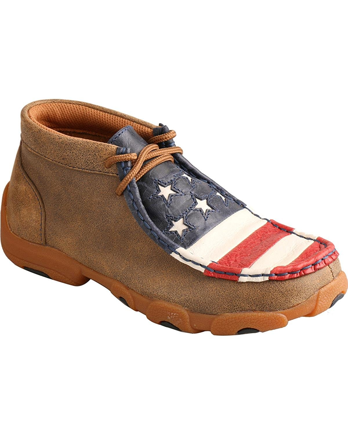59d2292679282 Get Quotations · Twisted X Casual Shoes Boys Kids Driving Moc Patriotic  Bomber YDM0013