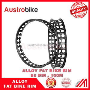 26er Alloy Fatbike rims 80mm 100 mm with holes fat bike alloy wheel