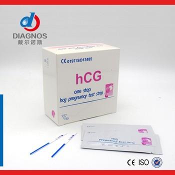 In vitro hcg test strip,HCG pregnancy oraquick test, View In vitro hcg test  strip, Diagnos Product Details from Nantong Diagnos Biotechnology Co ,
