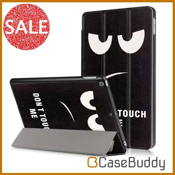 Casebuddy Colorful Printing Protective Folding Stand Eye Monster Leather Cover Case for Apple iPad 9.7 inch