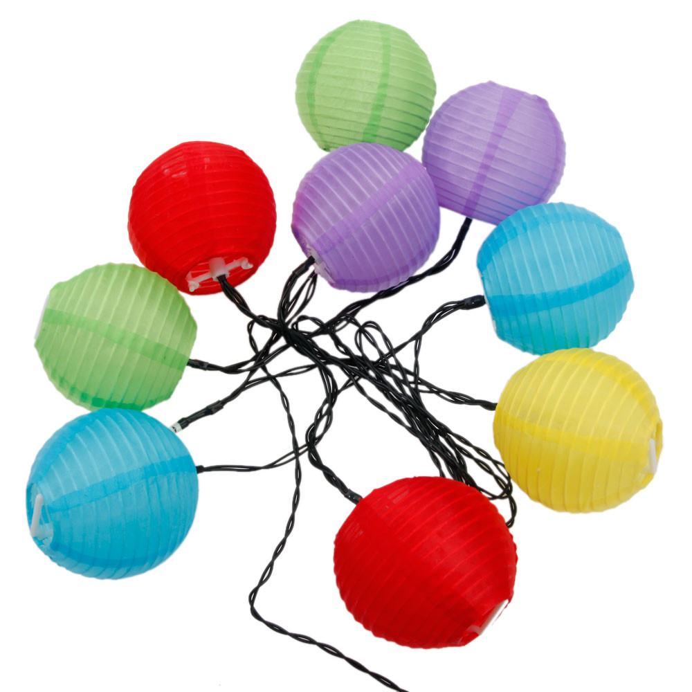 Christmas Decoration 1.8M 2V 10 LED 2 Modes Colorful Lantern White Light LED String Light Black