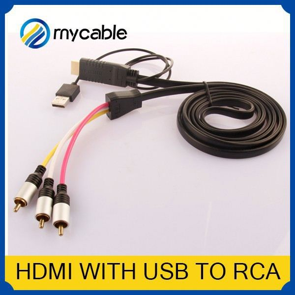 Hdmi To 5 Rca Rgb Component Cable 10 Pin Mini Din To Rca