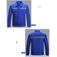 Factory Industrial Shop Mechanic Welding Worker Uniforms Fire Resistant Polycotton Long Sleeves Safety Reflective Shirt