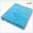16x16inch soft coral microfiber cleaning cloth(ultrasonic cut) coral fleece cloth