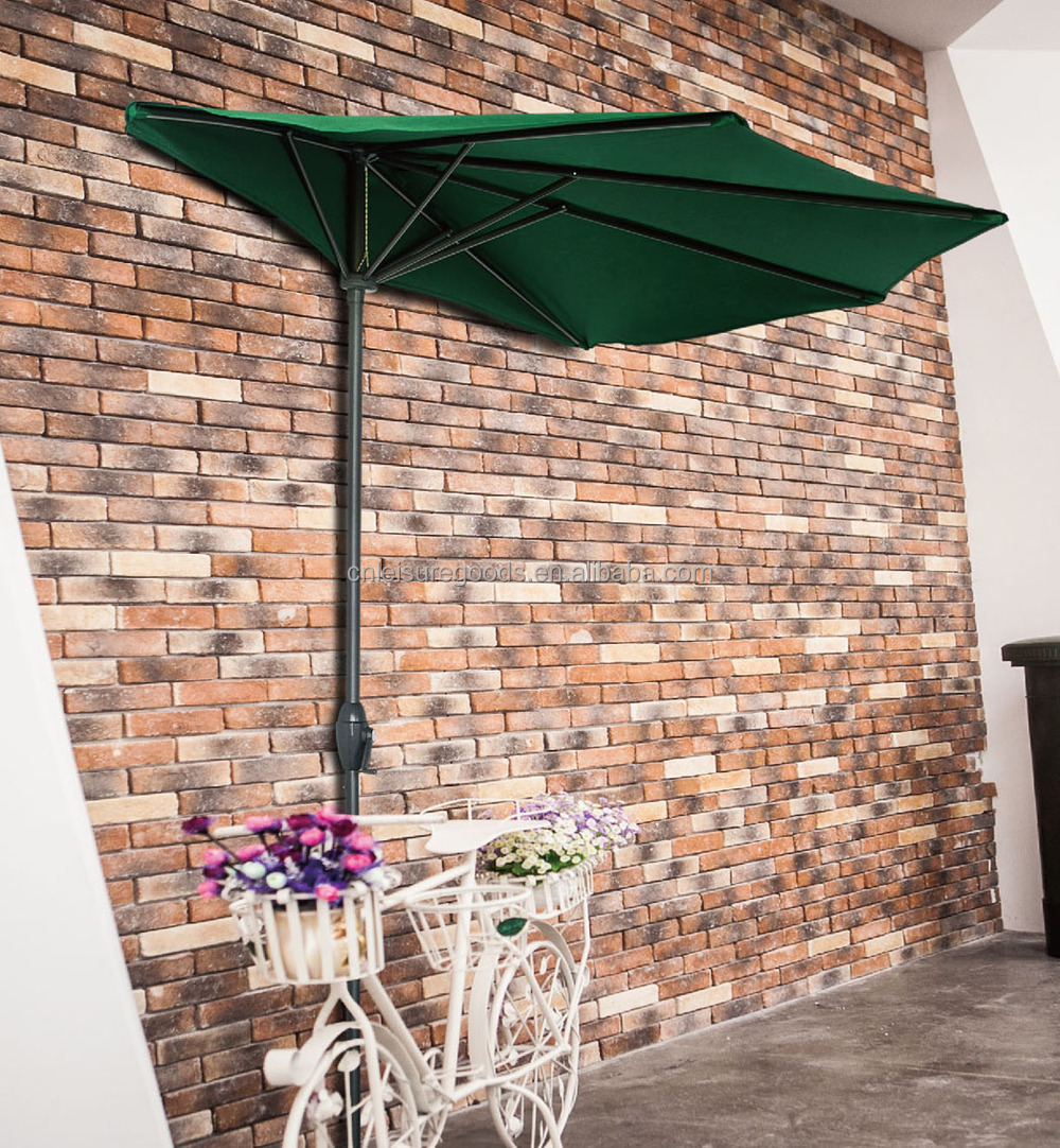 Patio Half Umbrella Wall Balcony Sun Shade Garden Parasol