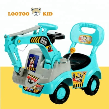 China factory hot sale plastic happy ride on kids excavation toys