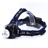 High Power Camping LED Head Torch Rechargeable Strong Light Zoomable LED Headlamp for Wholesale