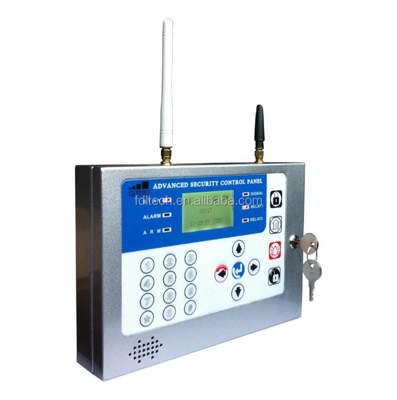 Quad-band LCD display SMS & Auto dial alarm GSM security intruder alarms system with wired/wireless detectors for safety