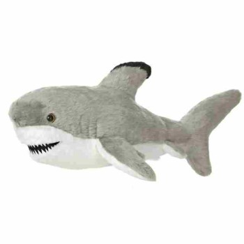 Plush sea animal toy customized soft medium sized shark for Life size shark plush