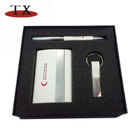 Hot Sell Key Chain Card Holder Pen Gift Set / gift items / gift premium
