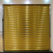 HS-G07 champagne aluminum garage door panels roll up shop shutters