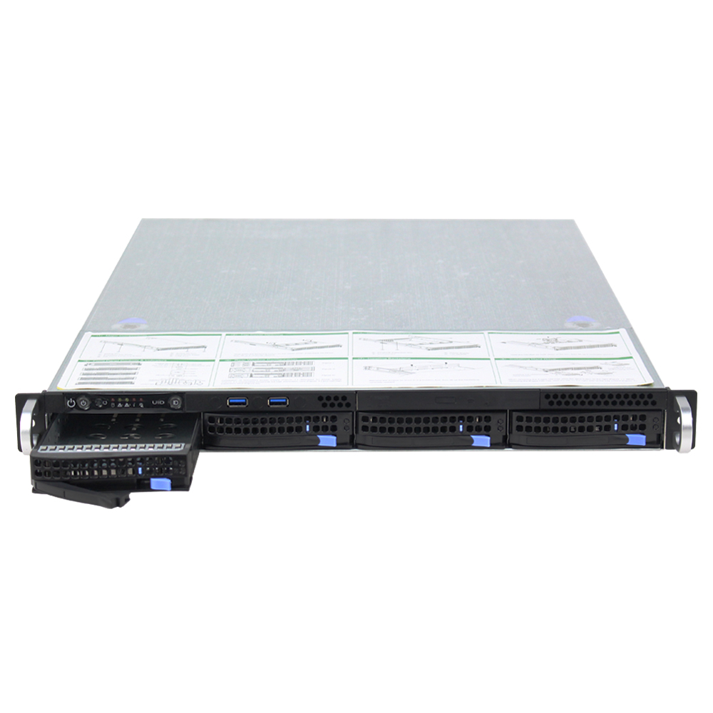 "1U 19 ""4 HDD Bays Hot - swap Server กรณี"
