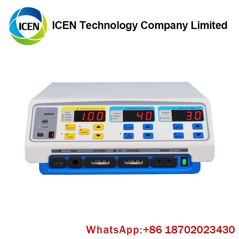 IN-I2000A Portable microwave short long wave valleylab diathermy knife bipolar surgical electrosurgical diathermy machine