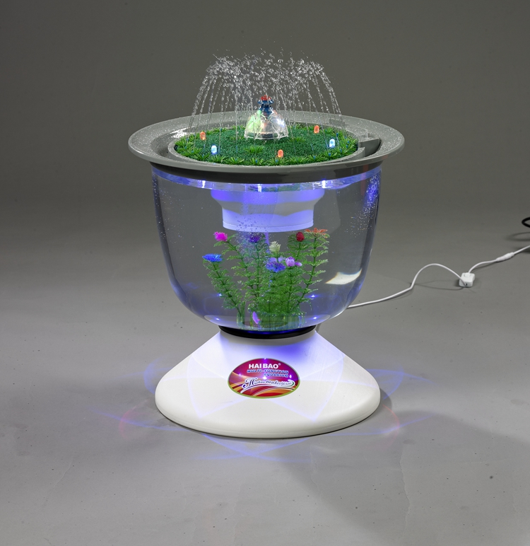 360 degree rotating led lighting Mini fish tank/aquarium For Sale