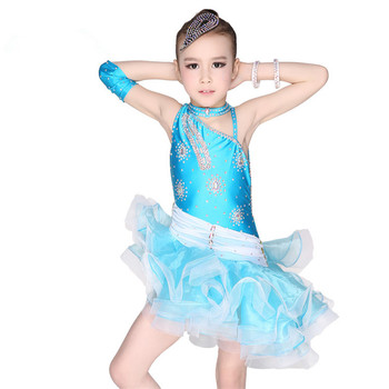 5e5e8965fa9ec OCT1508 Wholesale Modern Children Stage Ballroom Dance Clothes Costumes for Children  Sequin girl Latin jazz