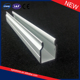 Factory supply anodized aluminium extruded u channel / Customized aluminium square tube c connector