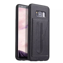 Built IN Kickstand And Card Slot Real Leather Case for Samsung Galaxy S8,S8 Plus