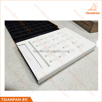 PY069 Customized Eva foam Granite and Marble Stone Sample Folder