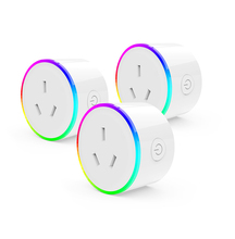 US/UK/AU/EU 호주 <span class=keywords><strong>소켓</strong></span> 벽 Outlet Wifi Smart Plugs Socket 와 Led 밤 빛 Tuyasmart 앱