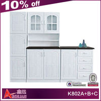 K802A+B+C Popular South Africa modern solid wooden kitchen cabinet