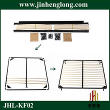 assembly wooden slats bed frame