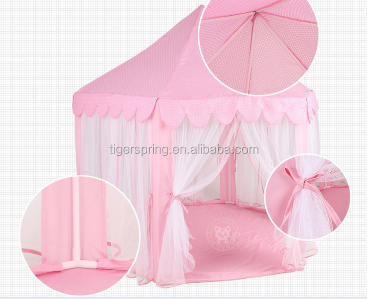 Pink Hexagon Kids Play Tent Big Childrenu0027s Tent Playhouse with Mesh : playhouse tent for kids - memphite.com