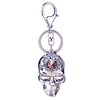 Wedding & Events Rhinestone Pirate Skull Key Chain Diamond Ring Keyring