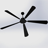 2.4meters new paddle design large ceiling fan for home and restaurant