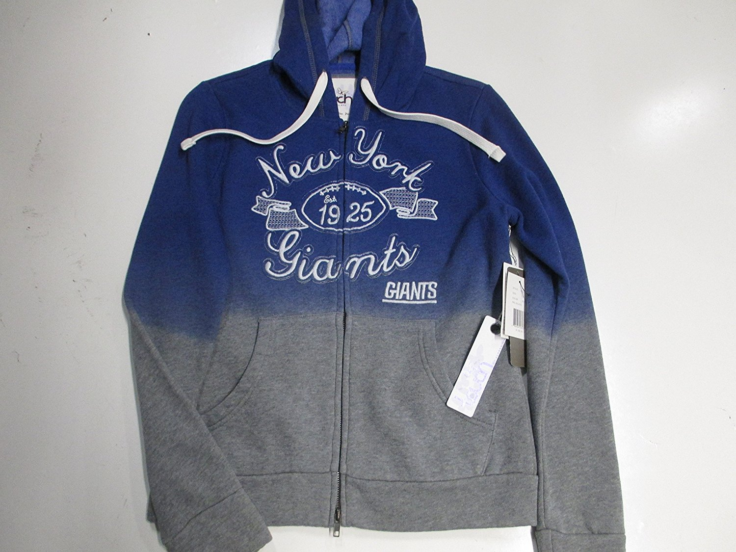 29d63c768 Get Quotations · New York Giants Womens Small and Medium Touch by Alyssa  Milano Full Zip Embroidered Hooded Sweatshirt