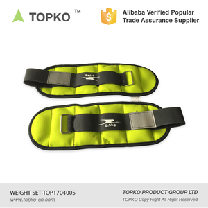 TOPKO wholesale Comfort fit Ankle Wrist Weights Set with Adjustable Strap ankle weight