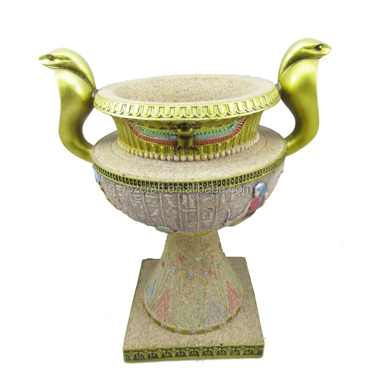 The Egypt style Incense Burners sandstone resin crafts statues for garden office decoration wholesale multicolor 12167